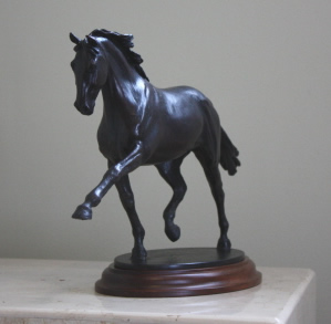 Dressage horse sculpture in bronze, on exhibit at the Lexington History Museum, through the World Equestrian Games, 2010